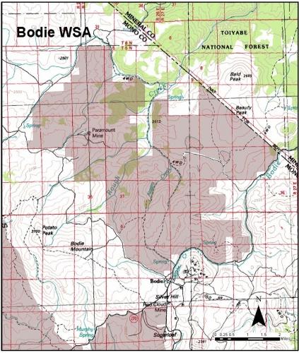 bodie WSA Map