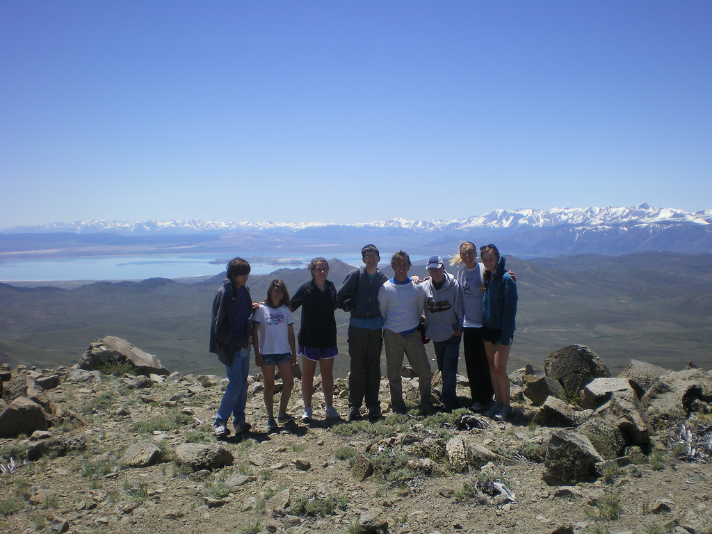 Rustic Pathways group on top of Bodie Mtn