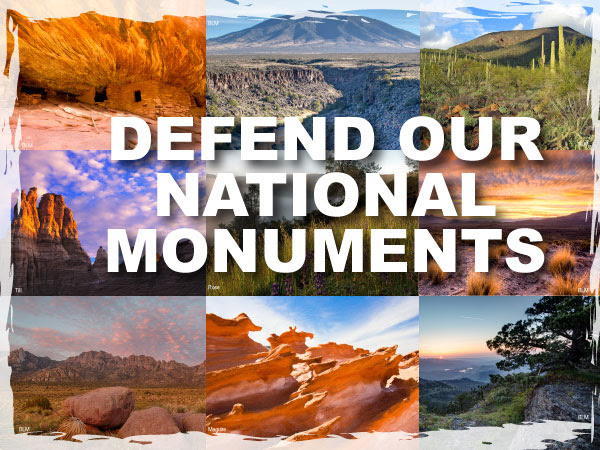 logo including pictures of national monuments