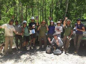 trail crew and volunteers lemonade