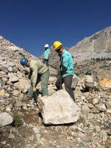trail work rock bar