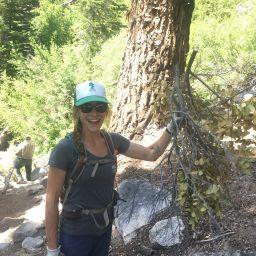 Lauren Newey trail brushing