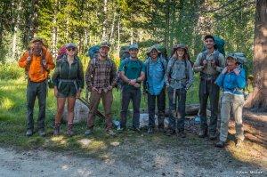 volunteer crew North Lake trailhead