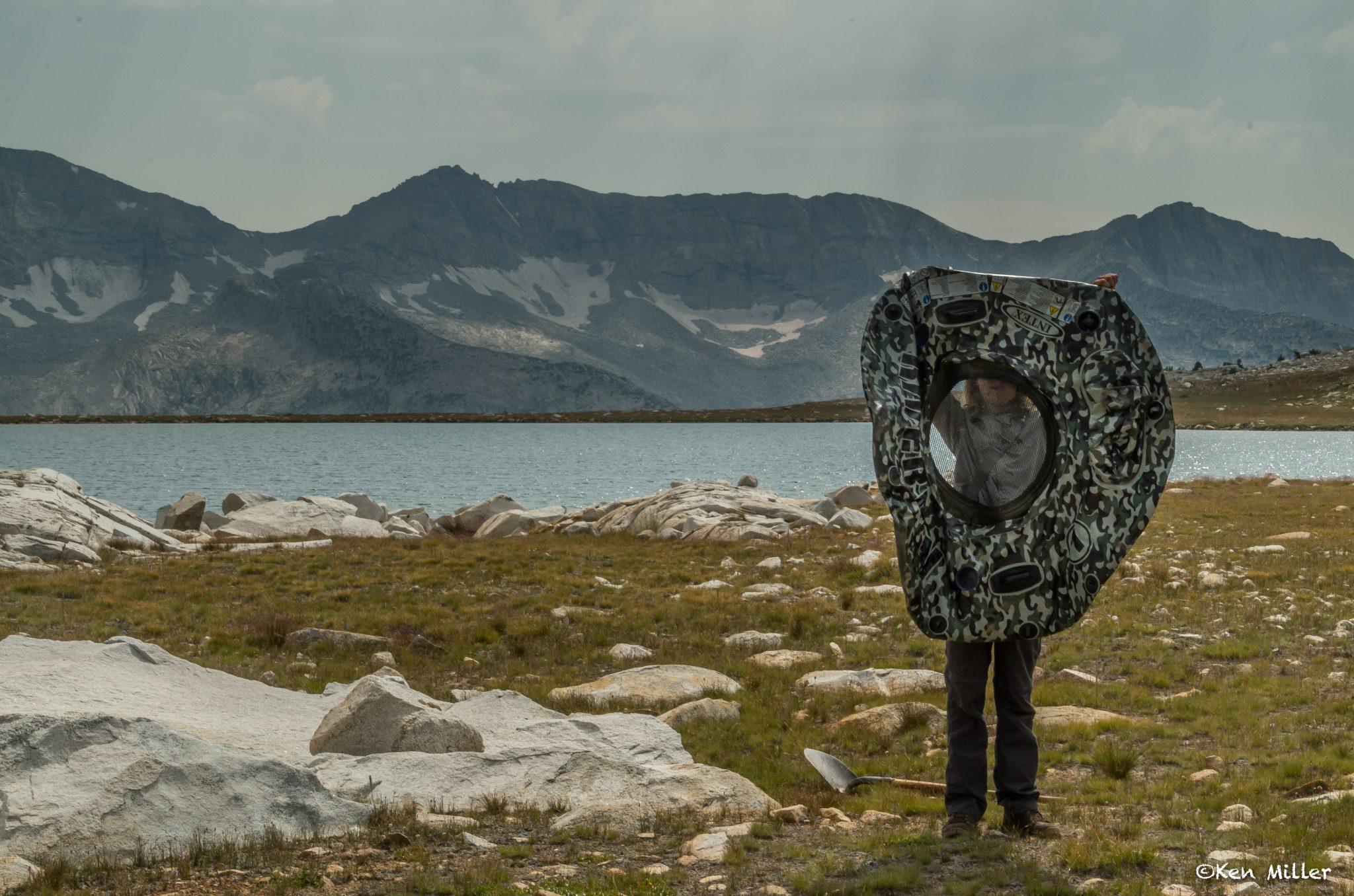 intertube alpine meadow cleanup