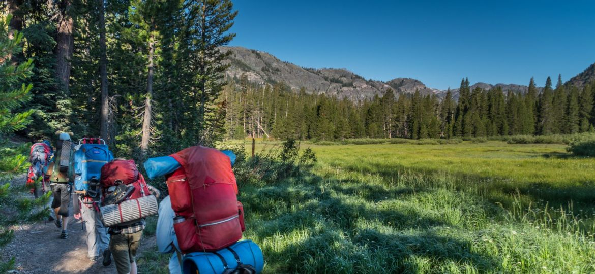 backpacking near meadow