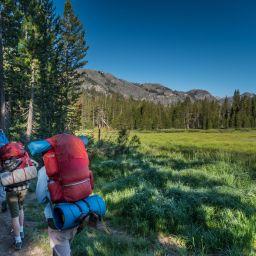 backpacking near meadow