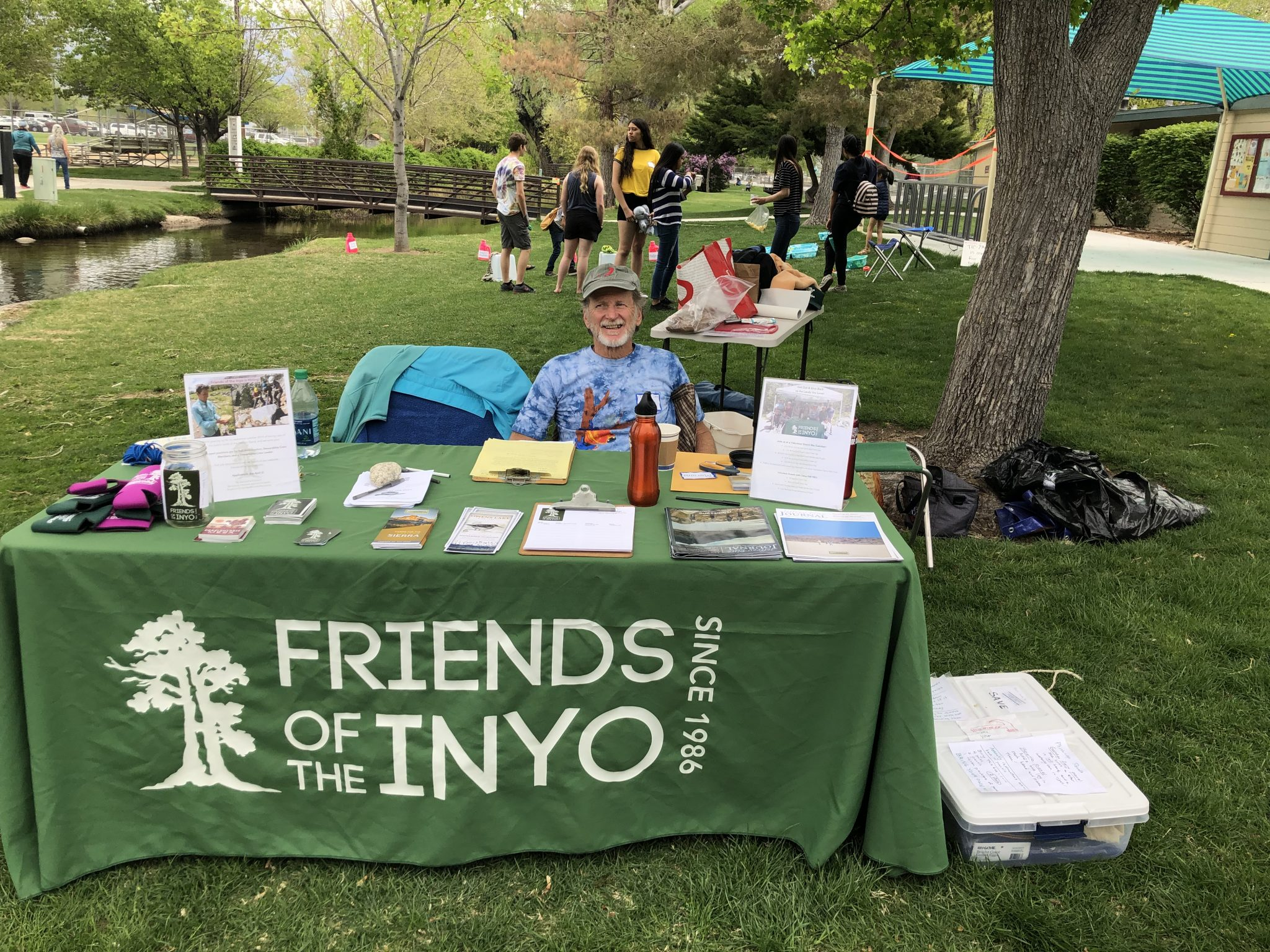 Friends of the Inyo Table at Bishop City park