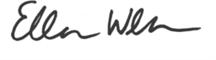 Ellen Wehr Handwritten signature