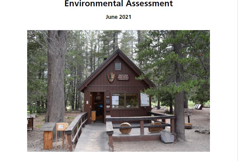 Cover sheet environmental assessment