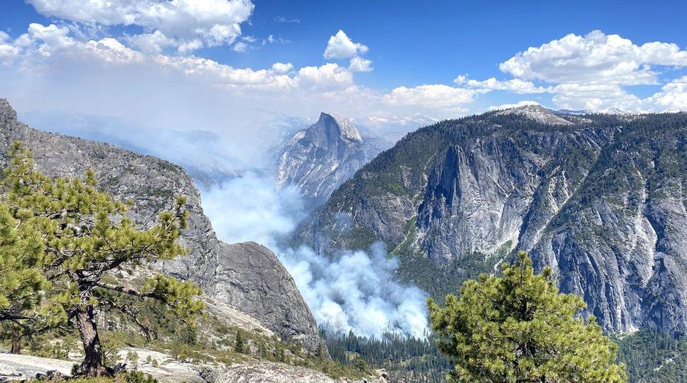 fire in Yosemite Unsplash royalty free Billy Onjea