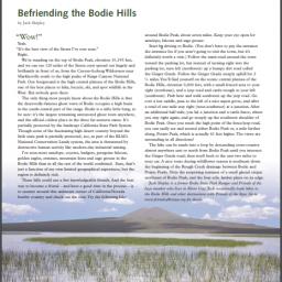befriending the bodie hills feature